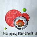 Happy birthday - carte glossy