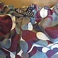 Culotte BIANCA en Liberty véritable gris et prune et noeud gris à pois (3)