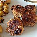 Boulettes de viandes en croûte de parmesan