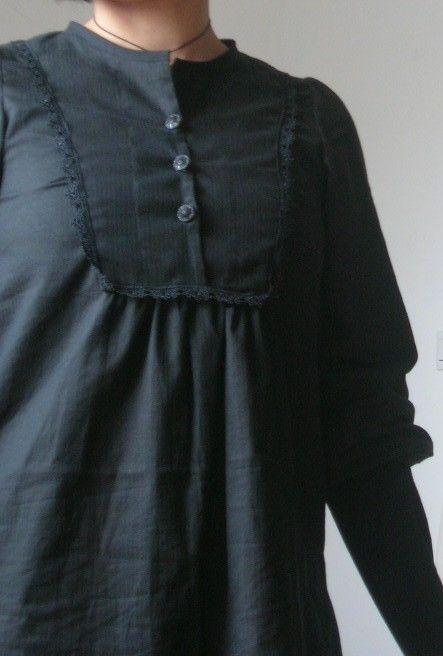 coton noir fines rayures ajourées