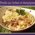 Risotto aux lardons et champignons