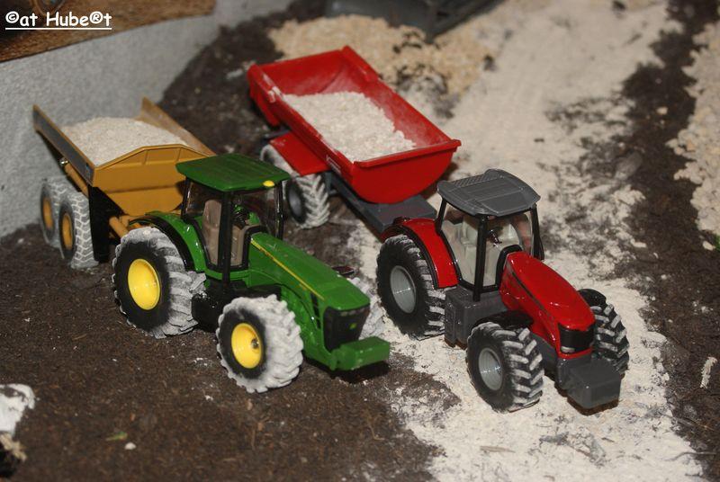 Diorama tracteurs.
