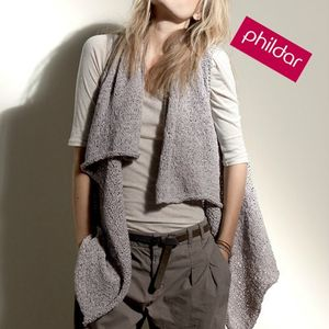 gilet long phildar