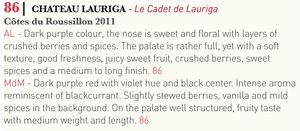 Tasted-Journal-Chateau-Lauriga-Cadet-de-Lauriga-2011