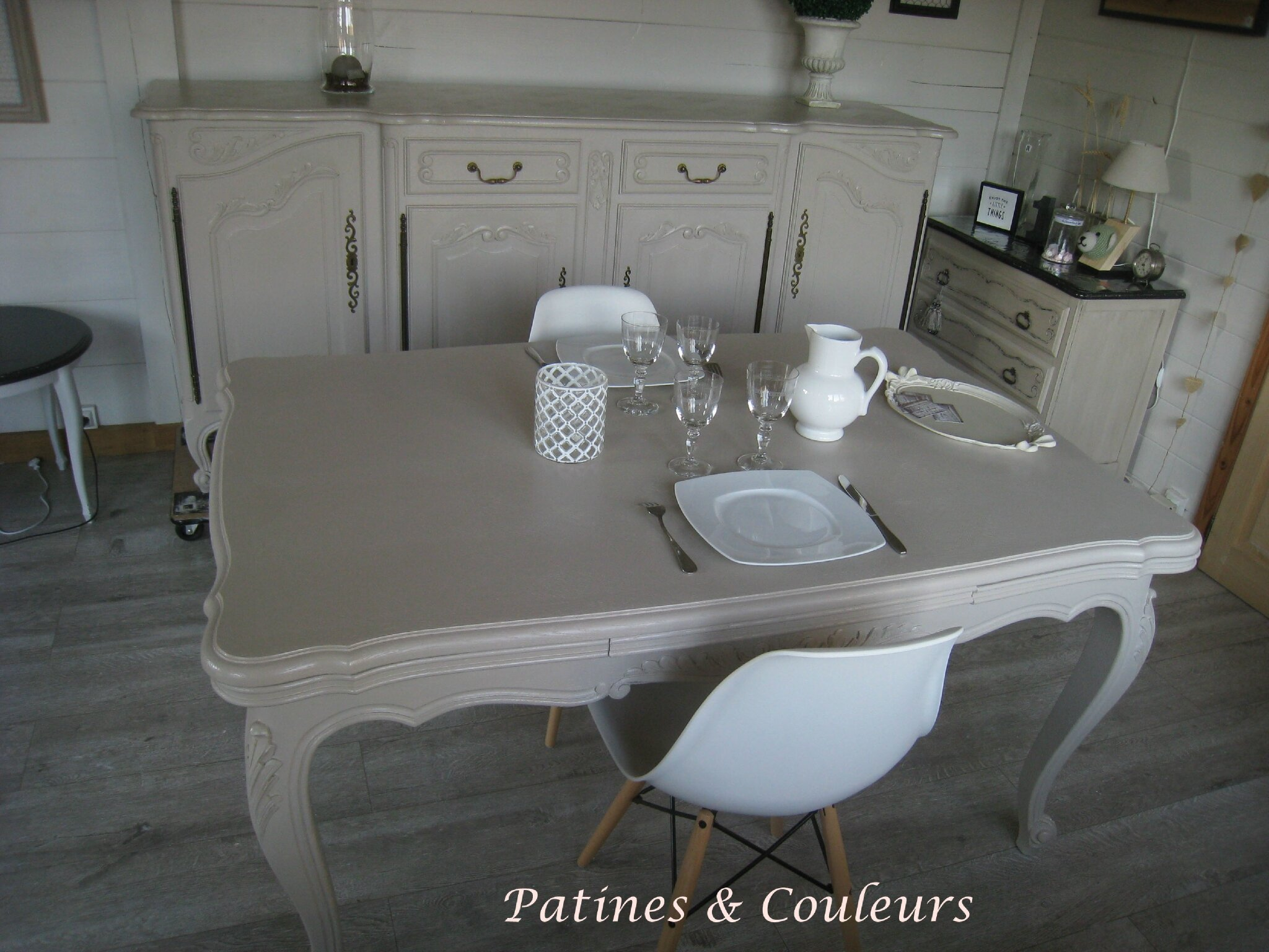 Salle A Manger Regence Relookee Patines Couleurs