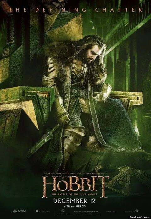 Thorin poster The Hobbit The Battle of the Five armies