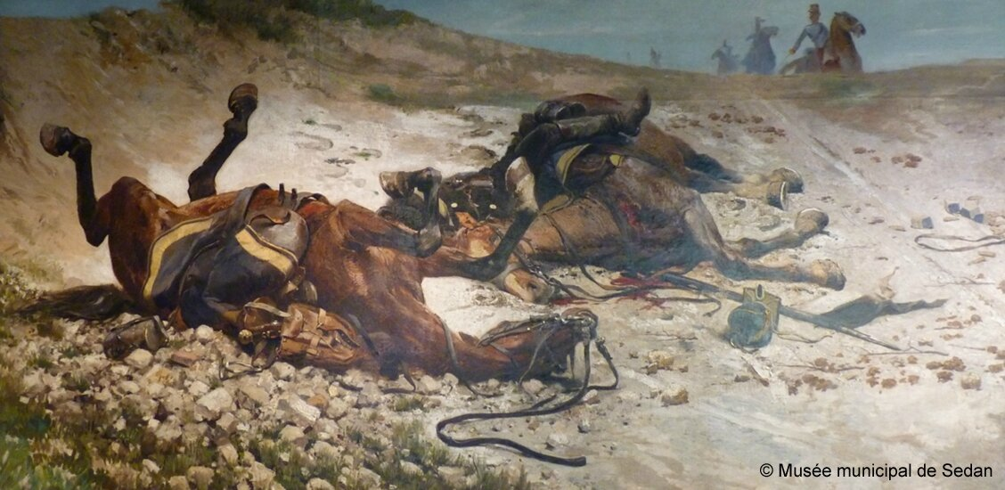 Detaille, mort du Uhlan (bataille de Champigny)