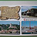 Gruissan 1 - le vieux village - Tour Barberousse - Port - chalets de plage