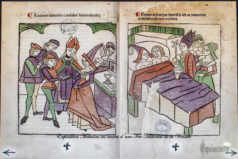 Légendes Poitevine ; Geoffroy à la Grande Dent, son frère Fromont Maillezais - Mélusine et Raimondin de Forez, sire de Lusignan (7)