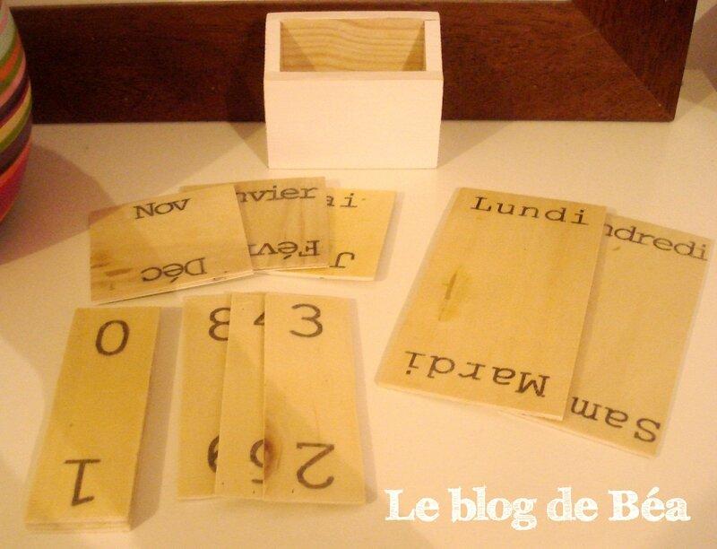 DIY calendrier perpétuel en cagette et bois de palette