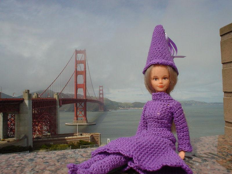 La fée et le Golden Gate à San Francisco (USA)