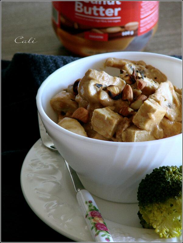 Tofu & Champignons au Beurre de Cacahuètes 001