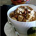 Tofu & champignons au beurre de cacahuètes