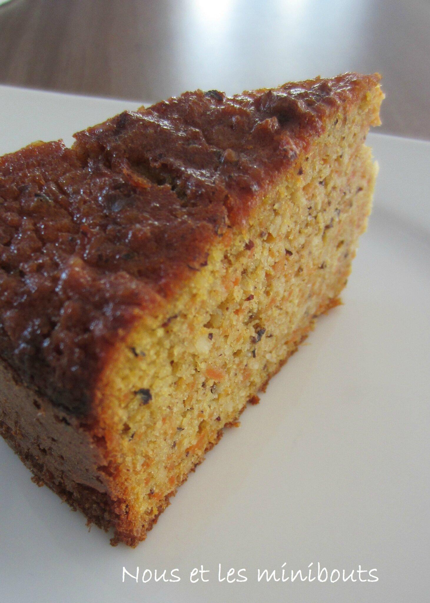 Carrot cake aux amandes et aux noisettes