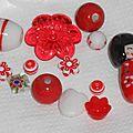 Nouveauté en perlerie : lots mixés et assortiment de perles rouges et blanches