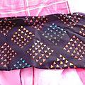 tissus noir et couleur