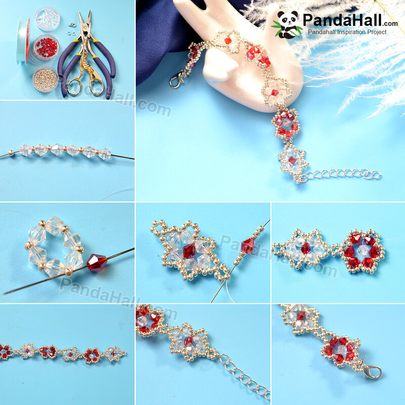 1080-8-PandaHall-Idea-on-Crystal-Flower-Bracelet