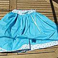 Un peu de soleil..et une jupe bleu azur!