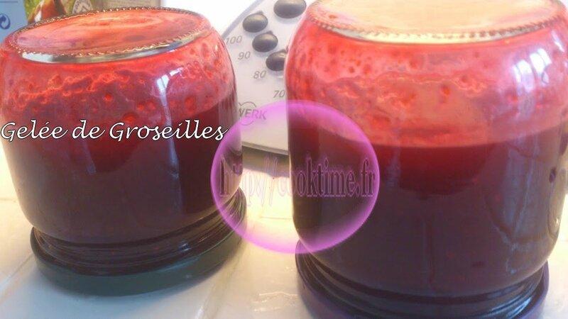 Gelée de Groseilles au Thermomix 5