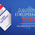 Élections européennes, 26 mai 2019