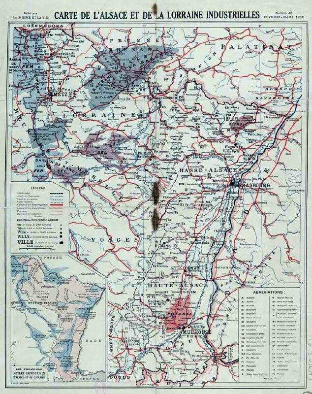 Carte Als Lorraine 1919