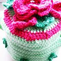 Tea cosy pink flowers 8