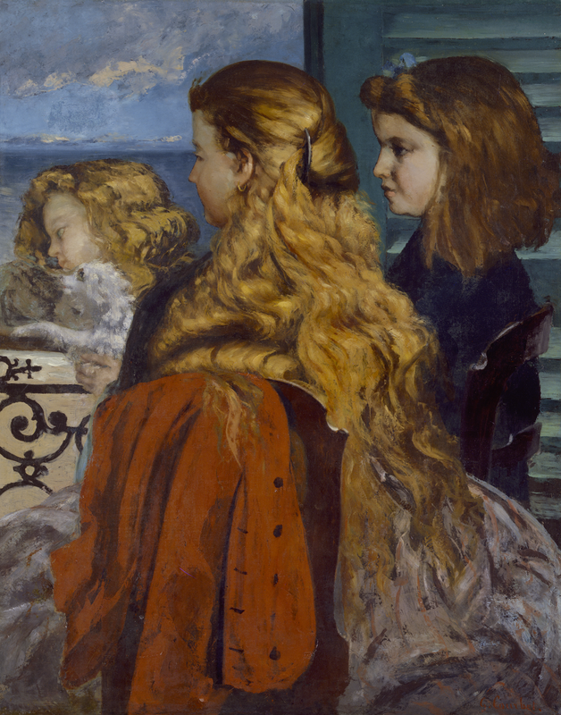 Three Young Englishwomen by a Window, 1865, Gustave Courbet, MIN 1750
