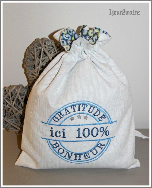 sac gratitude attude 100% bleu
