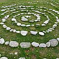 land-art sur l'ile Wrac'h