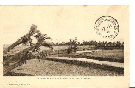 E) MARRAKECH - Vue du Pont et de l'Oued Tensift
