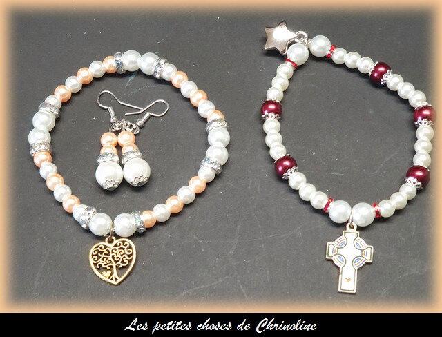 bracelets et boucles d'oreile octobre