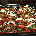 Tian courgettes tomates chèvre