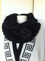 snood noir pailleté 1