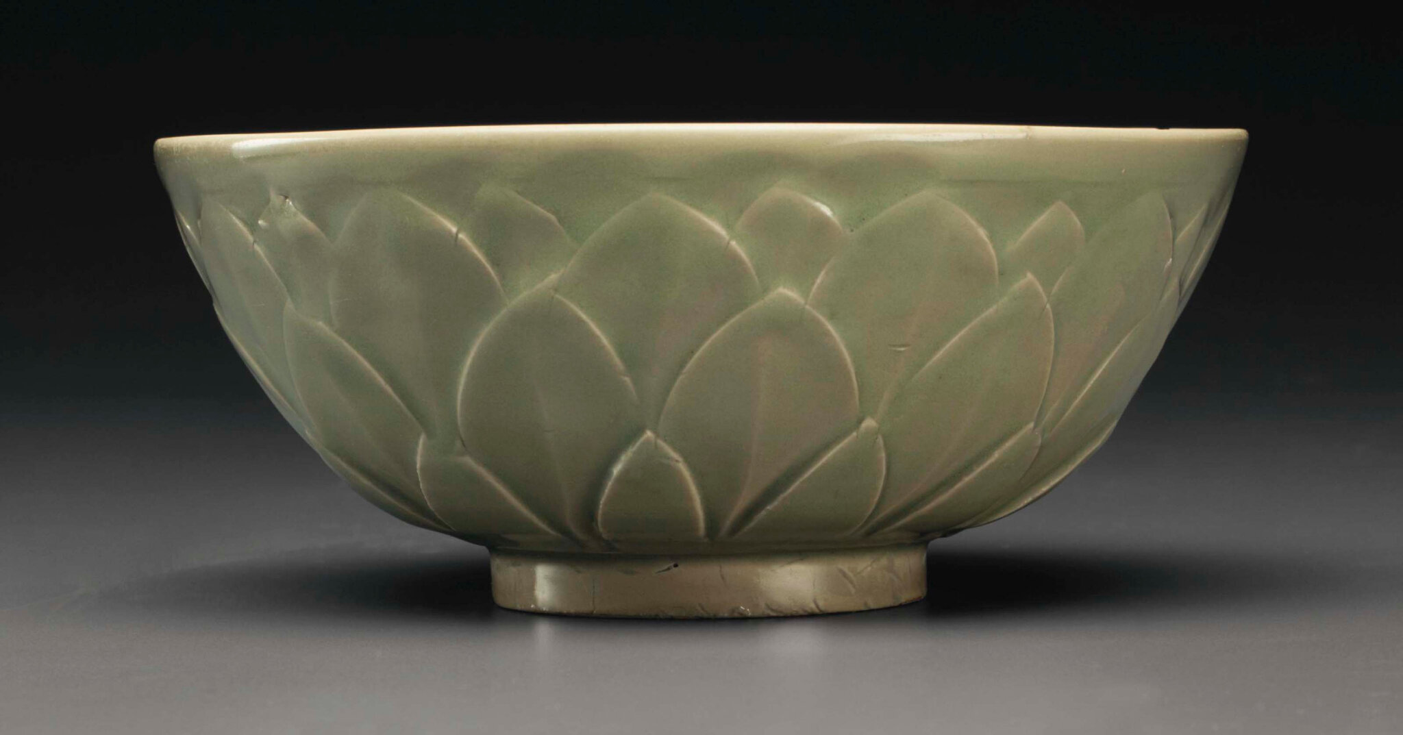 A Yaozhou celadon petal-carved bowl, Northern Song dynasty (AD 960-1127)