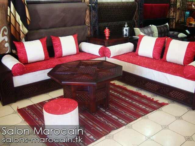 salon marocain en cuir 2014 salon marocain moderne. Black Bedroom Furniture Sets. Home Design Ideas