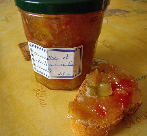 confiture courgette