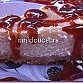Cheesecake sauce caramel