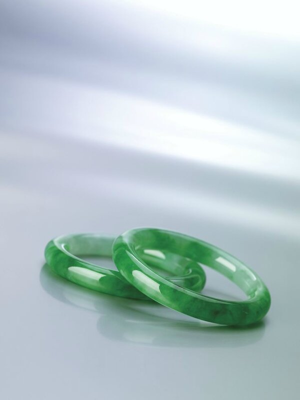 Rare Pair of Jadeite Bangles3