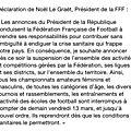 Suspension des activités footbalistiques.