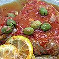 Thon frais aux anchois et citron