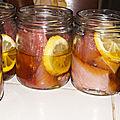 Conserves de thon à l'huile cru
