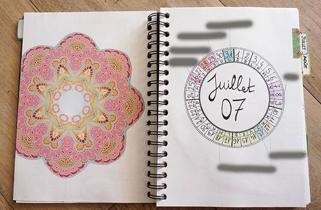 Bujo juillet 2017 - Monthly log
