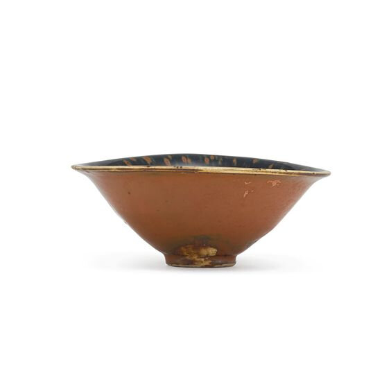 A russet-splashed black-glazed 'partridge feather' bowl, Song dynasty (960-1279)
