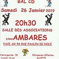 Samedi 26 janvier 2019 - bal country à ambares