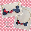Collier mickey minnie