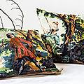 Coussin tapisserie vintage