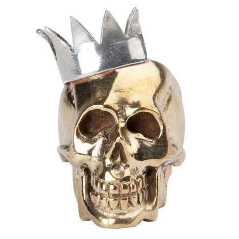 Crowned Skull Ring by Jessica Kagan Cushman