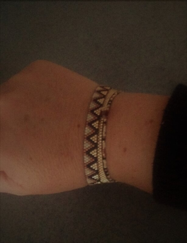 trio bracelet marron et or 4