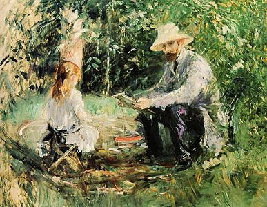 Eugene_Manet_and_His_Daughter_in_the_Garden_1883_Berthe_Morisot