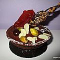 Tartelette garnie a la crème pâtissiere - chocolat